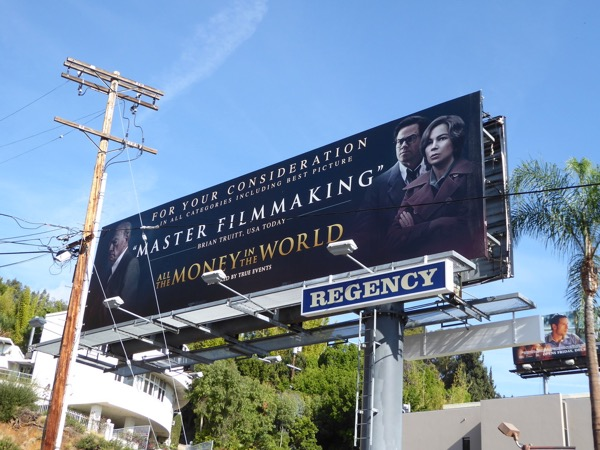 All the Money in the World Oscar FYC billboard