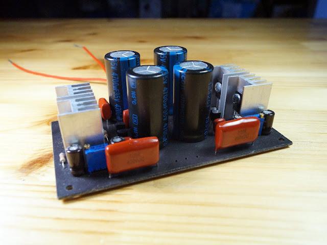 Прототип выходного буфера гибридного усилителя для наушников.