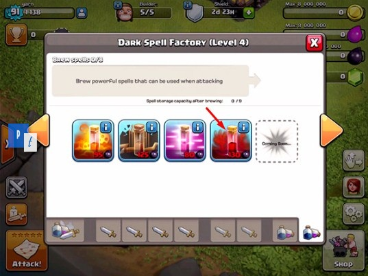 Skeleton Spell Update Terbaru Town Hall 9 Clash of Clans