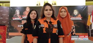 Ketua DPC Srikandi PP Kota Sukabumi, Irina Faurika