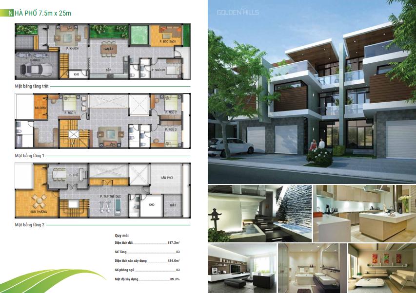 Mẫu thiết kế nhà phố 7.5x25m
