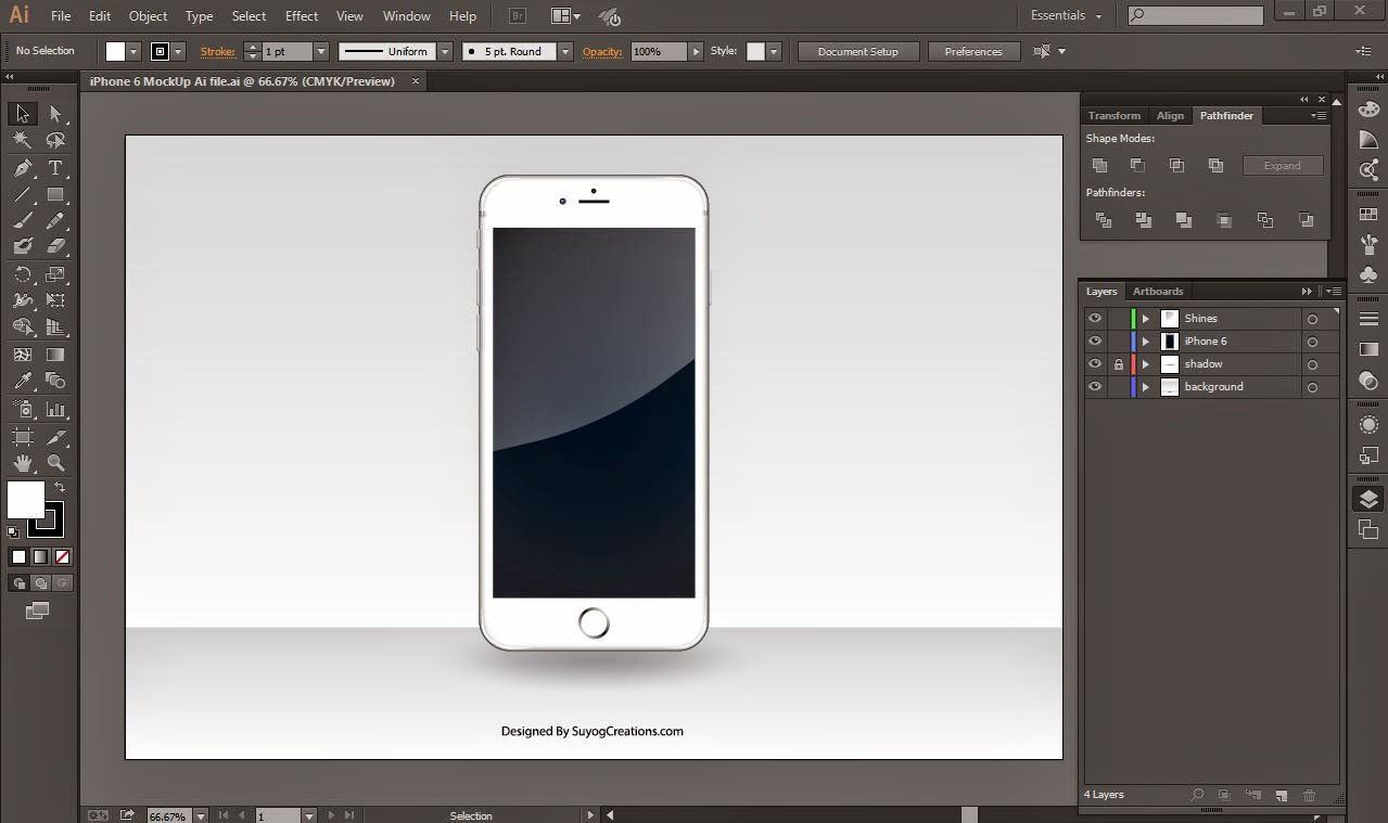 iphone 6 mockup screenshoot