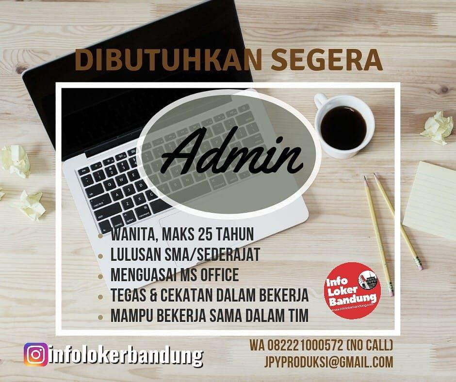 Lowongan Kerja Sebagai Admin JPY Bandung Juni 2019