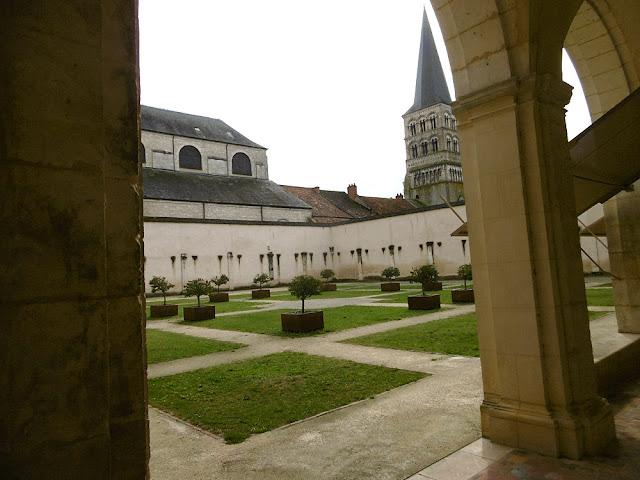 Cloisters, Clunaic priory, La Charite sur Loire, Nievre, France. Photo by Loire Valley Time Travel.