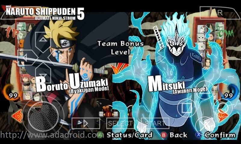 Naruto Shippuden Ultimate Ninja Storm 5 Mod CSO PSP Android