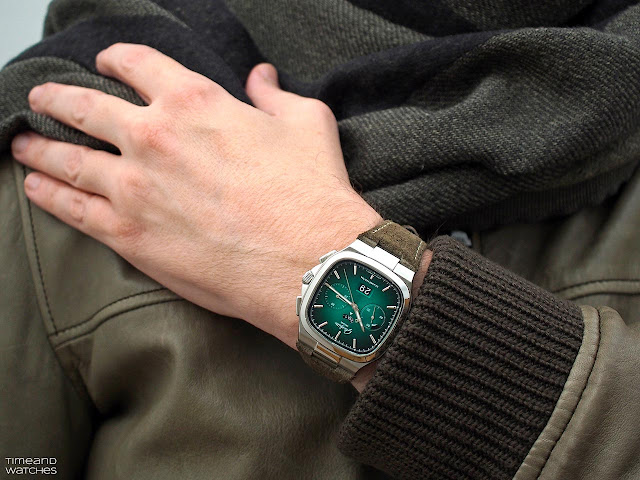 Glashütte Original Seventies Chronograph Panorama Date Green Dial