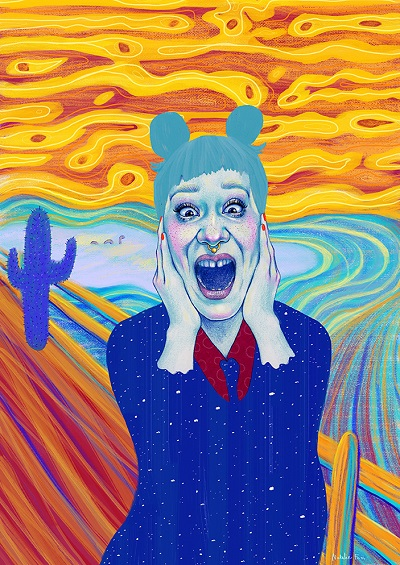 """Recreation of The Scream by Edvard Munch"" por Natalie Foss 
