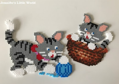 Mini Hama beads kitten kit