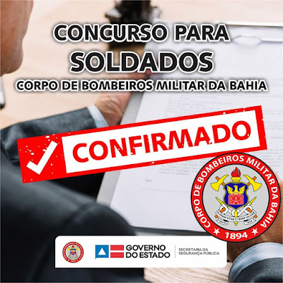 Concurso para soldado Bombeiros-BA: Edital foi autorizado!