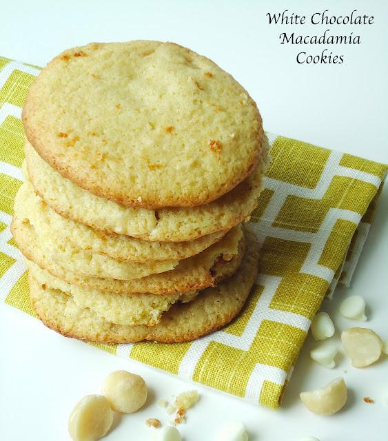 White Chocolate Macadamia Cookies {Gluten-Free, Vegan}