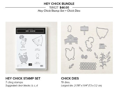 Stamps and Dies from the Stampin' Up! Hey Chick Bundle