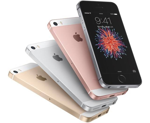 iPhone SE in various colour
