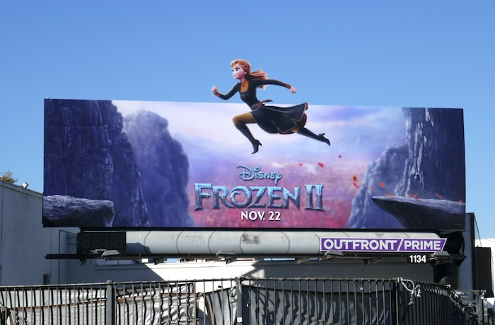 Anna Frozen II extension billboard