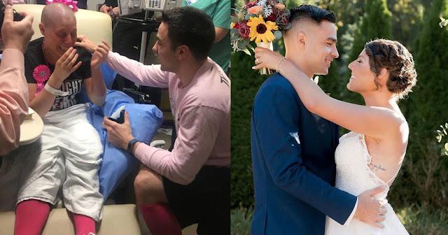 Του είπε να χωρίσουν γιατί έχει με καρκίνο αλλά εκείνος της έκανε πρόταση γάμου