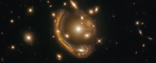 Breathtaking 'Einstein Ring' Reveals Views of a Galaxy 9.4 Billion Light-Years Away