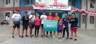 Jalin Silaturahmi dan Komunikasi, Dandim Kapuas Olahraga Bersama dengan KPS Runner
