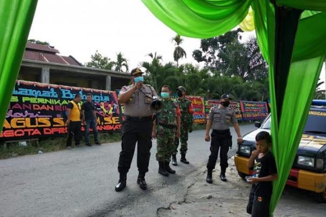 Polisi Secanggang Langkat Bubarkan Pesta Kepala Desa Teluk
