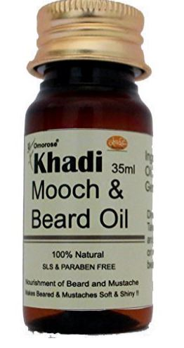 Omorose Khadi Beard & Mooch Growth Oil for Men