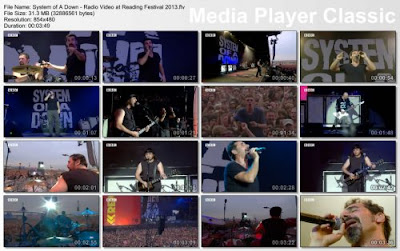 System of A Down - Radio Video at Reading Festival - Live Performance - 2013 HD 1080p Music Video Free Download