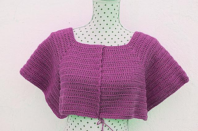 5 - Crochet Imagenen Canesú para chaqueta a crochet y ganchillo por Majovel Crochet