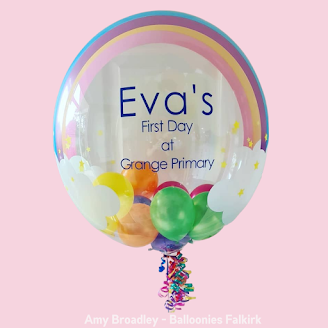 Personalised Balloons by Amy Broadley of Balloonies Falkirk, in Scotland,