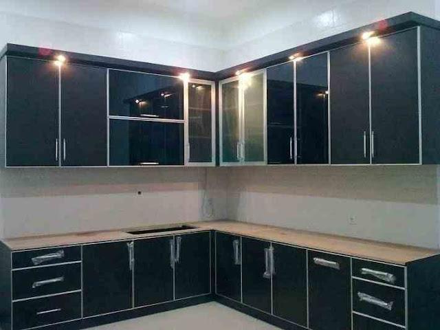 model lemari gantung dapur minimalis terbaru