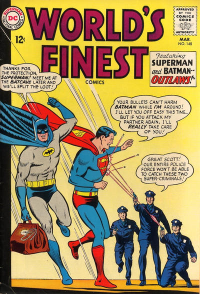 Episode #380 Part III: Superman Family Comic Book Cover Dated March 1965: World's Finest Comics #148!
