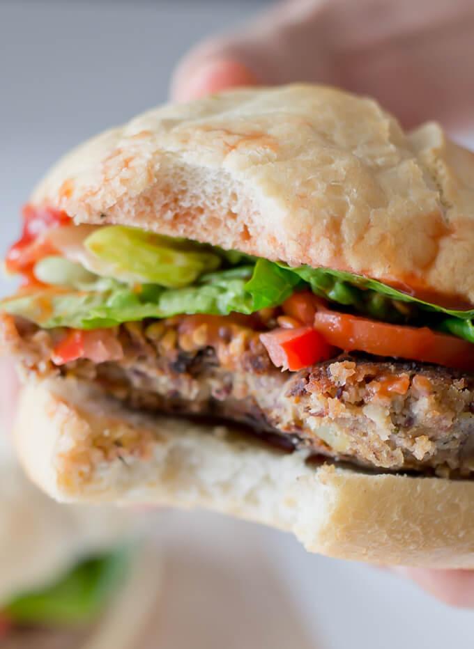 Vegetarian Burger Recipe via danceofstoves.com