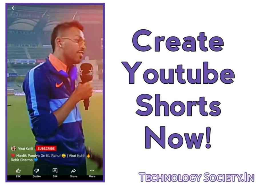 create YouTube Shorts video