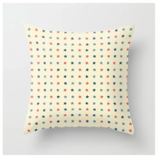 4th of July Throw Pillow by Melomania