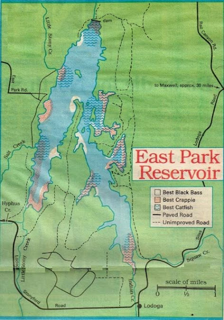 2015 East Park Reservoir Fishing Map and local hunting clubs, how to fish east park reservoir