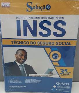 Apostila INSS técnico do Seguro Social na Banca Vanildo em Registro-SP