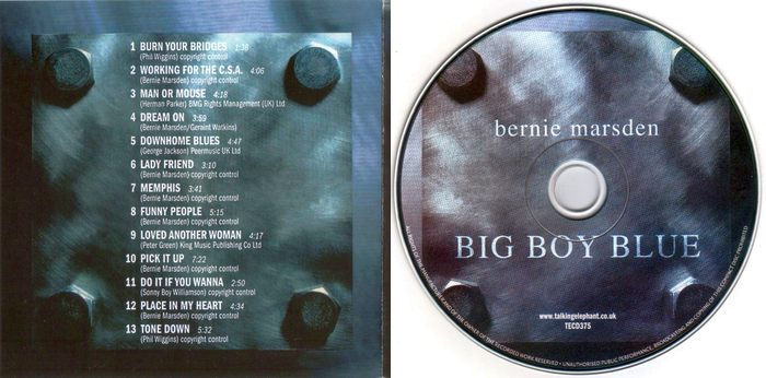 BERNIE MARSDEN (Whitesnake) - Big Boy Blue [remastered] (2017) booklet