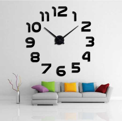 Wall Clocks 3D Horloge Mirror Stickers Home Decoration Quartz Needle