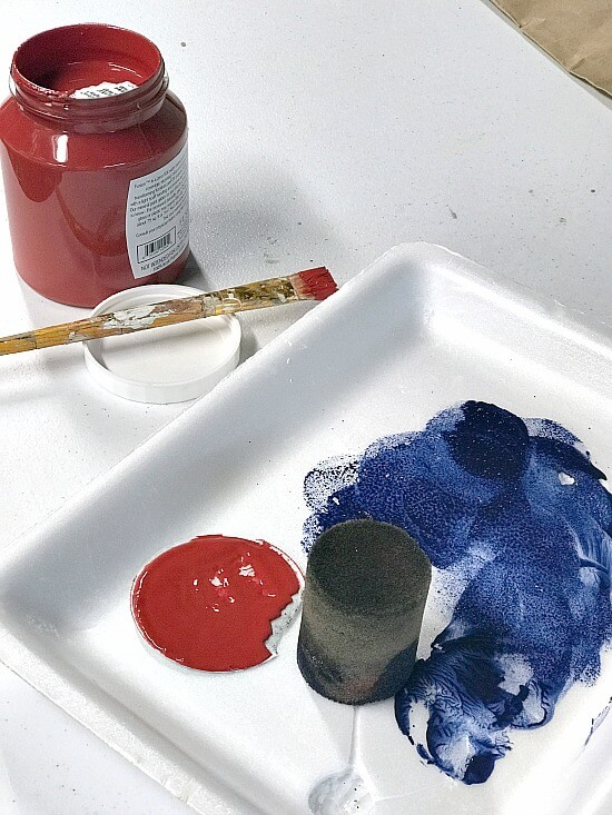 Fusion Mineral Paint American Flag colors
