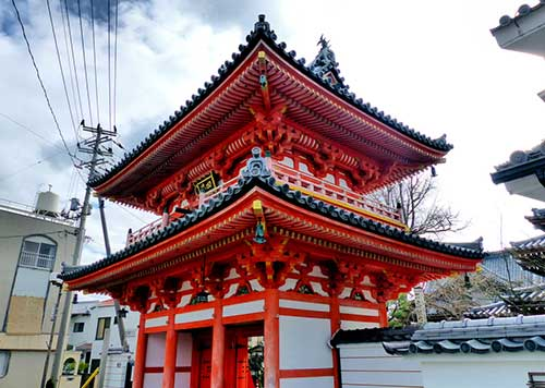 Main Gate to Saikoji Temple, Shodoshima.