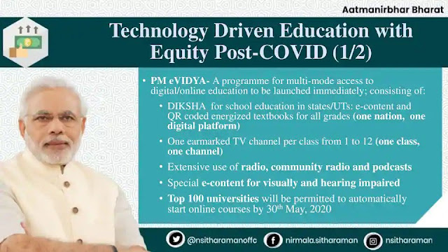 PM eVidya - For Class 1 to 12th, 12 Educational Channels Launched