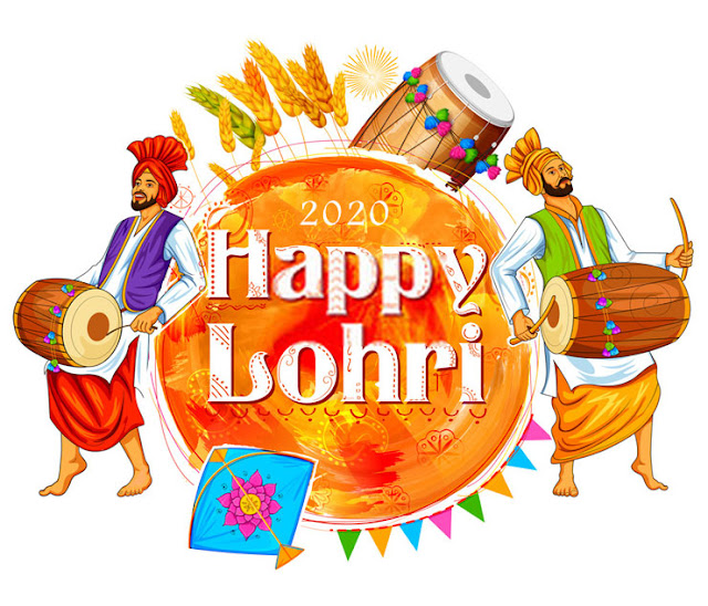 Happy Lohri Greeting Cards and Wishing Card 2020