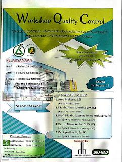 Workshop Quality Control  PATELKI DKI Jakarta Pusat 2019