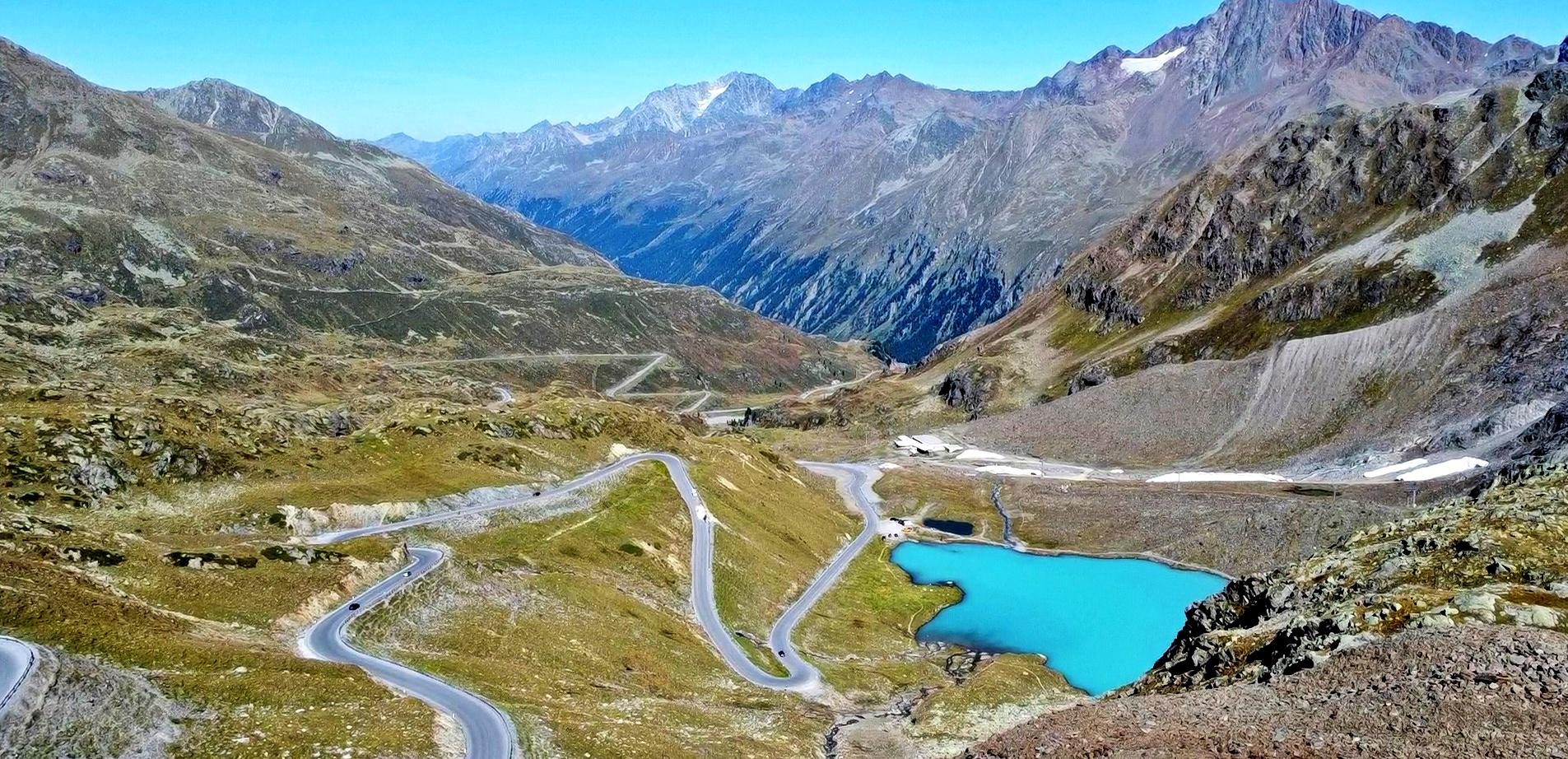 droga pod lodowiec Kaunertal  najpiękniejsza droga alpejska Austria