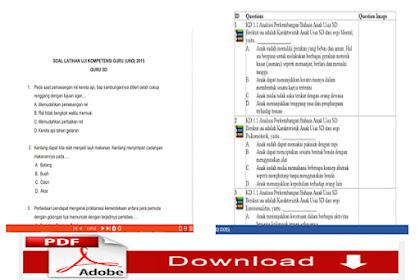 File Soal Latihan UKG 2015 Sekolah Dasar ( SD )