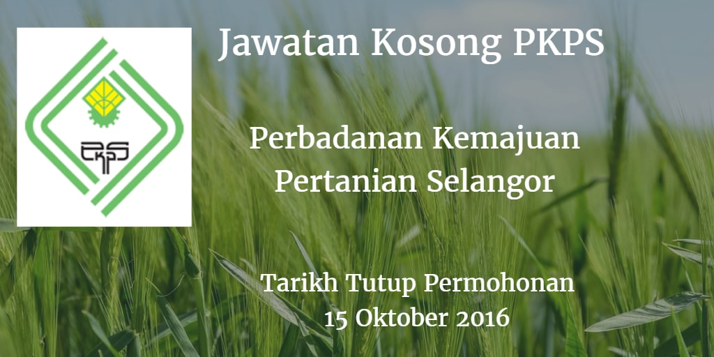 Jawatan Kosong PKPS 15 Oktober 2016