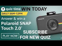Amazon Quiz Time Daily @ 8AM-12PM on 11 Feb 2021