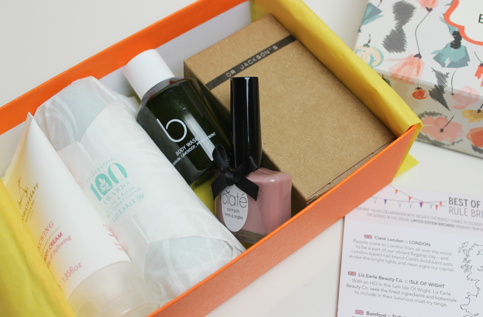 A picture of Birchbox UK Limited Edition Tatler Box