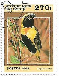 Selo Cardeal-tecelão-amarelo