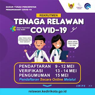 Rekrutmen Tenaga Relawan Covid-19 Pemerintah Kota Kediri