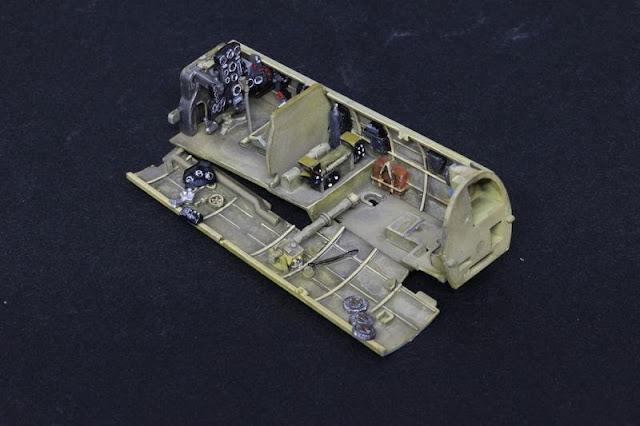 "Cockpit du Aichi D3A1 ""VAL""  Hasegawa 1/48."