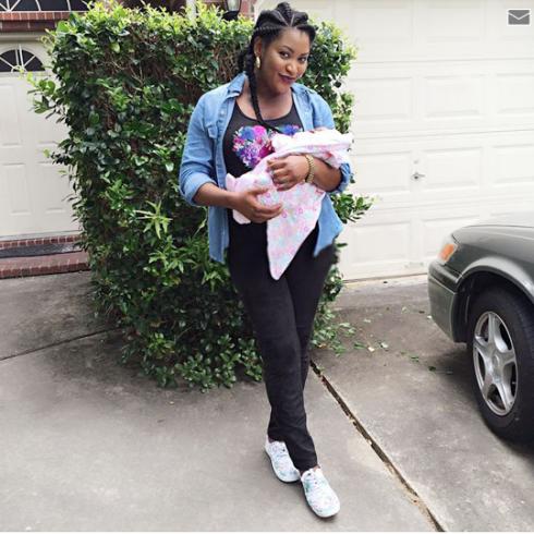 Actress Uche Elendu shares photoof herself and her lovely daughter.