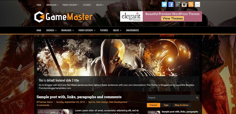 GameMaster Free Blogger Template