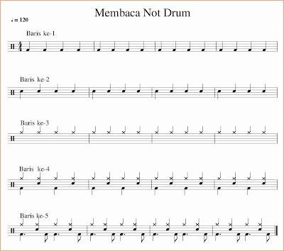 gambar notyasi drum